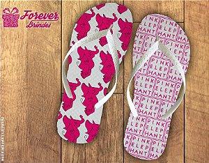 Chinelo Personalizado Empresarial Pink Elephant