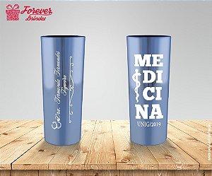 Copo Long Drink Metalizado com Logo Medicina
