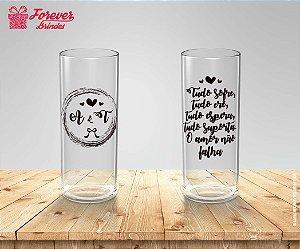 Copo Long Drink Casamento Frase
