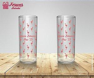 Copo Long Drink Personalizado de Flamingo
