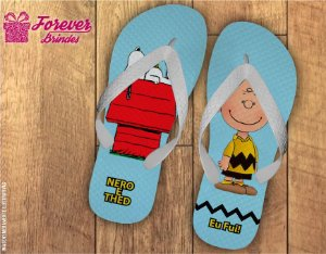 Chinelo Personalizado Charlie e Snoopy