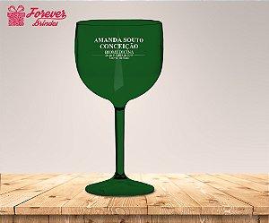 Taça Gin Verde Formatura De Biomedicina