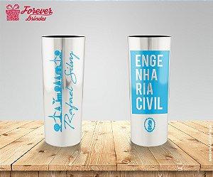 Copo Metalizado Engenharia Civil Azul