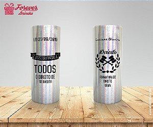 Copo Long Drink Holográfico Personalizado de Direito