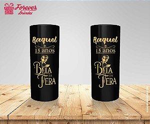 Copo Long Drink Personalizado Bela e a Fera