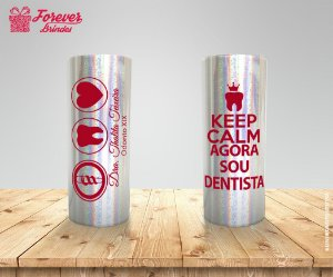 Copo Long Drink Holográfico de Odontologia