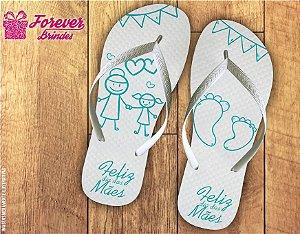 Chinelo Personalizado Dia Das Mães Mãe e Filha