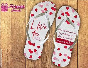 Chinelo Personalizado Dia Das Mães Love