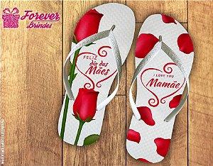 Chinelo Dia Das Mães Com Rosas