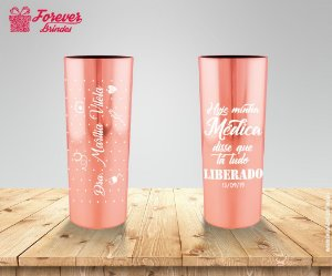 Copo Long Drink Metalizado de Medicina Rose