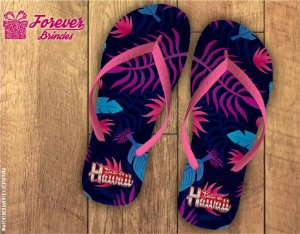 Chinelo Personalizado de Festa Luau