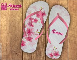 Chinelo Personalizado De Pilates Floral