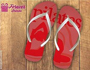 Chinelo Personalizado De Pilates Vermelho