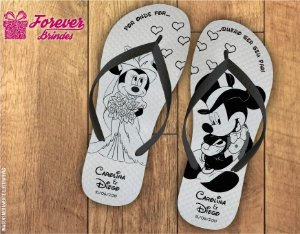 Chinelo de Casamento Mickey e Minnie
