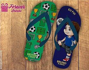 Chinelo Personalizado De Aniversário Tema Futebol
