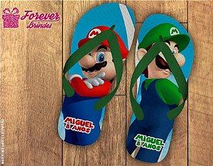 Chinelo Personalizado Mario Bros