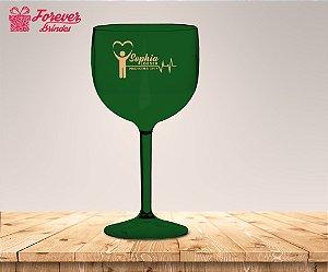 Taça Gin Verde Formatura De Medicina