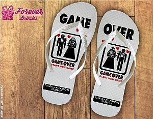 Chinelo De Casamento Game Over