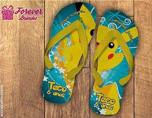 Chinelo Personalizado Aniversário Pokemon