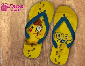 Chinelo Personalizado Do Pokemon