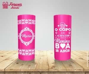 Copo Long Drink 18 Anos Pink