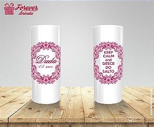 Copo Long Drink Personalizado 15 Anos Rosa