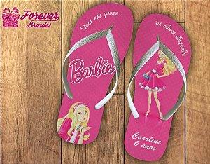 Chinelo Personalizado Aniversário Barbie