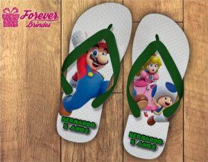 Chinelo Personalizado Do Mario