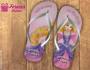 Chinelo Personalizado Da Rapunzel