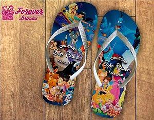 Chinelo Personalizado De Aniversário Princesas Da Disney