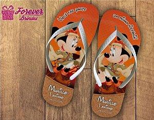 Chinelo De Aniversário Personalizado De Safari Mickey