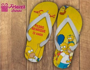 Chinelo Personalizado Dos Simpsons