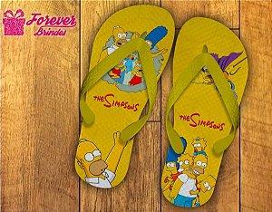 Chinelo De Aniversário Dos Simpsons
