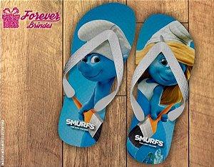 Chinelo Personalizados Dos Smurfs