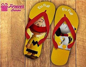 Chinelo Personalizado De Aniversário Do Snoopy