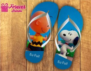 Chinelo Personalizado De Aniversário Snoopy