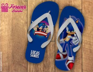 Chinelo Personalizado Do Sonic