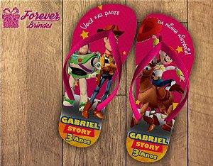 Chinelo Personalizado Do Toy Story De Aniversário