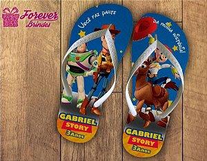 Chinelo Personalizado Toy Story De Aniversário