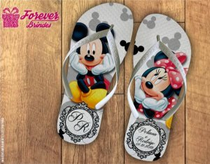 Chinelo Personalizado Dia Dos Namorados Mickey Minnie