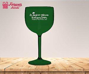 Taça Gin Verde Personalizada De Medicina