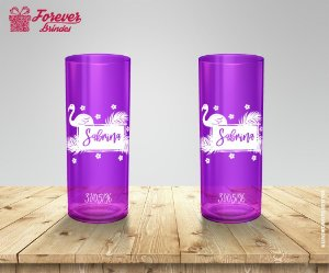 Copo Long Drink Personalizado Flamingo