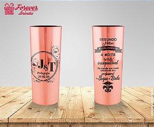 Copo Long Drink Rose Metalizado De Pedagogia