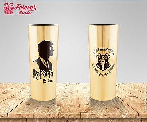 Copo Long Drink Metalizado Harry Potter