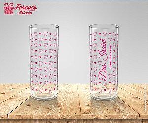 Copo Long Drink Rosa Personalizado De Odontologia