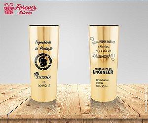Copo Long Drink Metalizado Dourado Engenharia De Produção