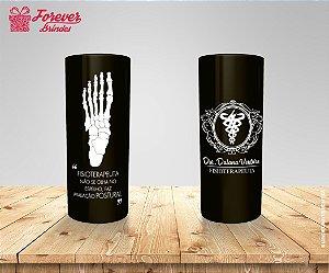 Copo Long Drink Preto Personalizado De Fisioterapia