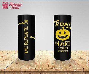 Copo Long Drink Preto Personalizado Halloween