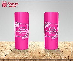 Copo Long Drink Rosa Pink Personalizado De 25 Anos