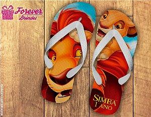 Chinelo Personalizado De Aniversário Rei Leão Simba
